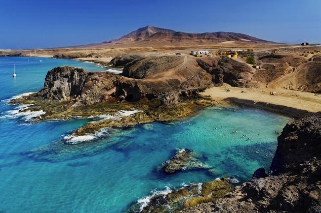 La playa Papagayo de Lanzarote