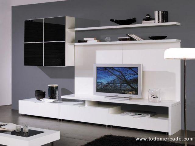 Muebles para tv en melamina modernos for Muebles modulares modernos